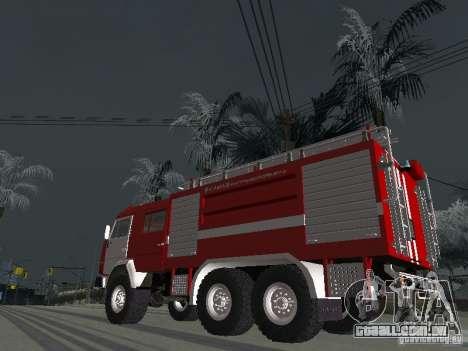 KAMAZ 43118 AC-7 para GTA San Andreas esquerda vista