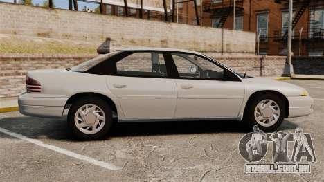 Dodge Intrepid 1993 Civil para GTA 4 esquerda vista