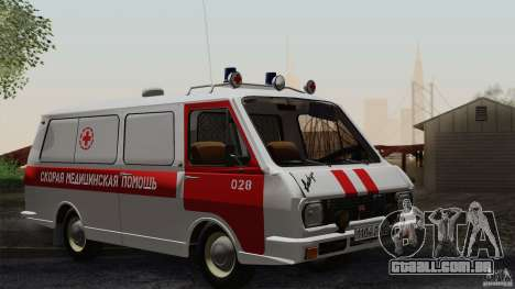 RAF 22031 Latvija ambulância para GTA San Andreas vista superior