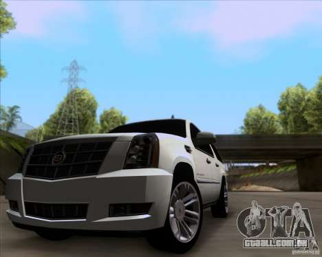 Cadillac Escalade ESV Platinum 2013 para GTA San Andreas esquerda vista
