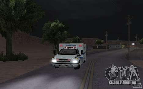 Chevrolet C4500 Ambulance para GTA San Andreas esquerda vista