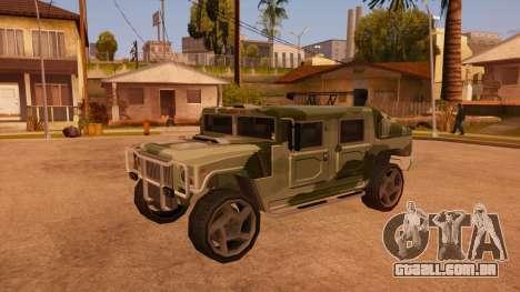 HD Patriot para GTA San Andreas vista superior