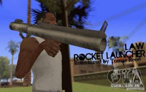 LAW Rocket Launcher Retextured para GTA San Andreas terceira tela