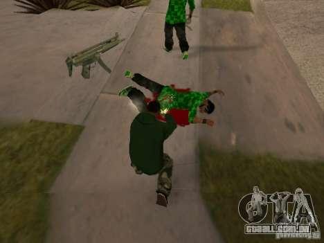 Utilização do armazém sua gangue para GTA San Andreas quinto tela