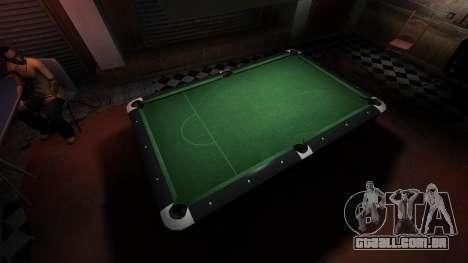 Mesa de bilhar superior na barra de 8 bolas para GTA 4 por diante tela