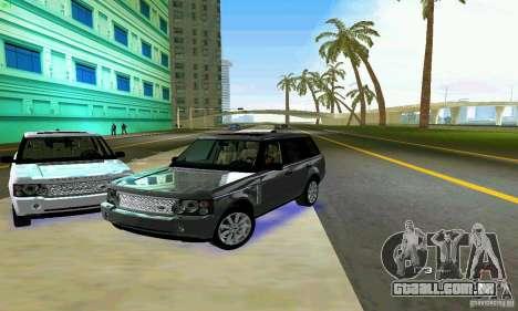 Land Rover Range Rover Supercharged 2008 para GTA Vice City vista inferior