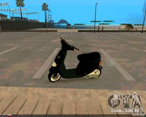 Piaggio Zip para GTA San Andreas esquerda vista