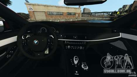 BMW M5 2012 para GTA 4 vista de volta