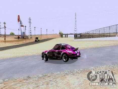 Porsche 911 Pink Power para GTA San Andreas vista direita