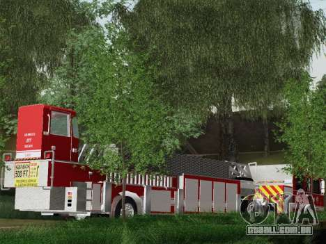 Pierce Arrow XT LAFD Tiller Ladder Truck 10 para GTA San Andreas vista interior
