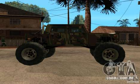 Monster Patriot para GTA San Andreas traseira esquerda vista