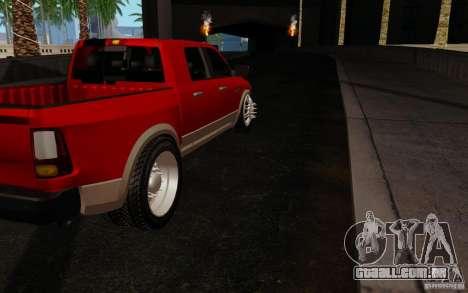 Dodge Ram 3500 Tuning para GTA San Andreas vista direita