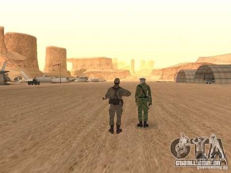 Um soldado soviético pele para GTA San Andreas quinto tela