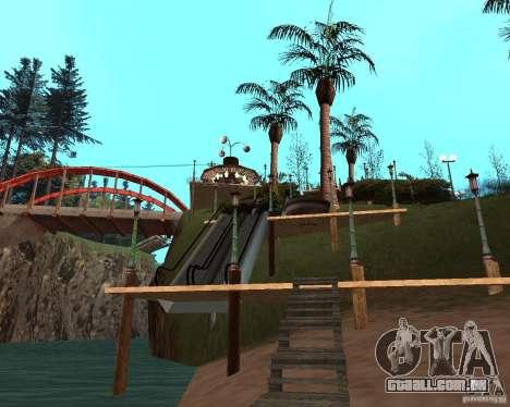 Villa na lagoa de pesca para GTA San Andreas nono tela