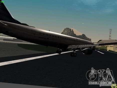 Embraer ERJ 190 USAirways para GTA San Andreas vista direita