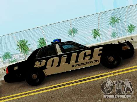 Ford Crown Victoria Police Interceptor 2011 para GTA San Andreas