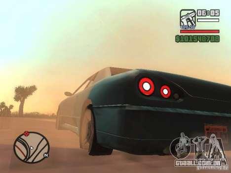 Novo Elegy para GTA San Andreas esquerda vista