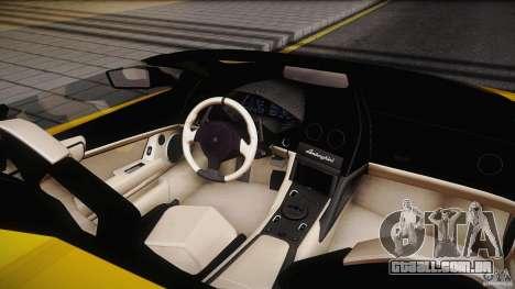 Lamborghini Reventón Roadster 2009 para GTA San Andreas vista traseira