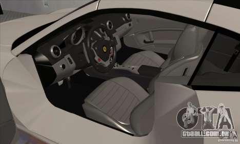 Ferrari California Hamann para GTA San Andreas vista traseira