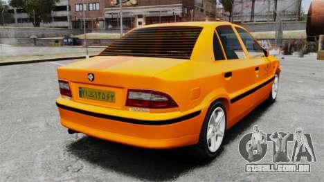 Iran Khodro Samand LX Taxi para GTA 4 traseira esquerda vista