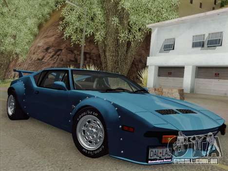 De Tomaso Pantera GT4 para GTA San Andreas traseira esquerda vista