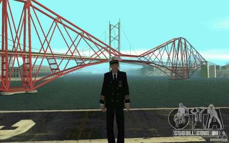 Admiral HD para GTA San Andreas por diante tela