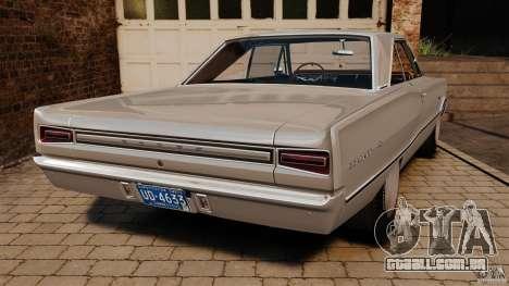 Dodge Coronet 1967 para GTA 4 traseira esquerda vista