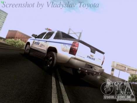Chevrolet Avalanche 2007 para GTA San Andreas esquerda vista