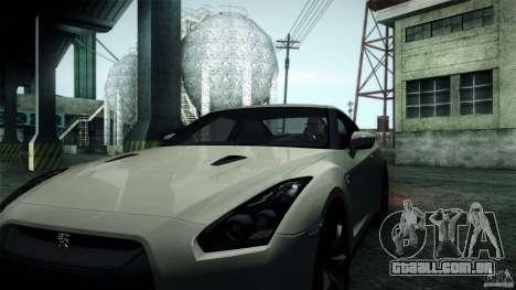 Nissan GT-R35 v1 para GTA San Andreas traseira esquerda vista