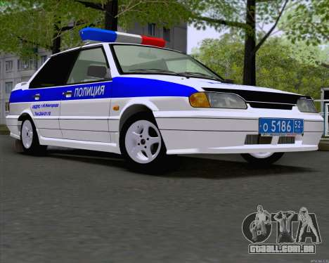VAZ 2115 polícia para GTA San Andreas