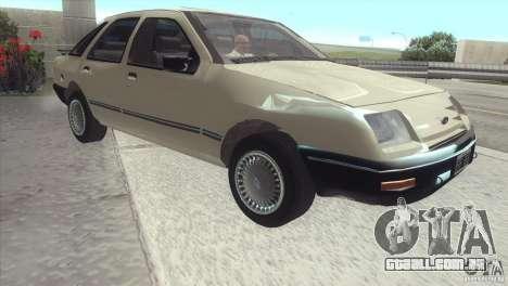 Ford Sierra para GTA San Andreas traseira esquerda vista