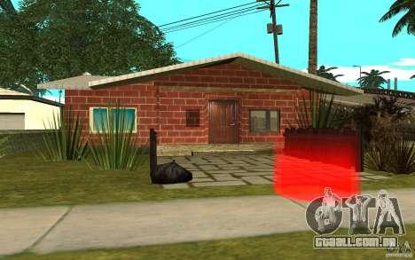 Novas texturas para casa Denis para GTA San Andreas por diante tela