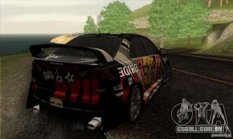 Mitsubishi Lancer Evolution X 2008 para o motor de GTA San Andreas