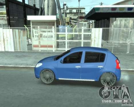 Renault Sandero v1.0 para GTA 4 traseira esquerda vista