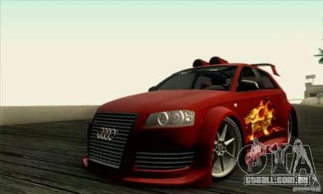 Audi A3 Tunable para GTA San Andreas vista traseira