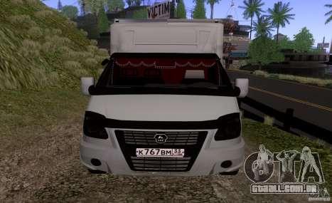 GAZ 3302 negócios para GTA San Andreas esquerda vista