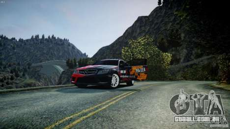 Mercedes Benz C63 AMG SAIBON Paint Job para GTA 4