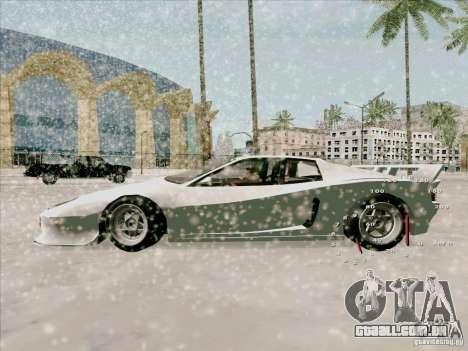 Ferrari Testarossa Custom para GTA San Andreas traseira esquerda vista