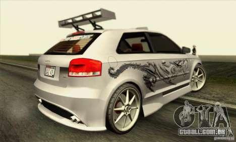 Audi A3 Tunable para GTA San Andreas interior