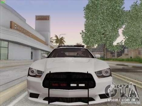 Dodge Charger 2012 Police para GTA San Andreas esquerda vista