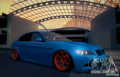 BMW M3 E90 para GTA San Andreas vista inferior