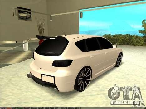 Mazda Speed 3 Stance v.2 para GTA San Andreas esquerda vista