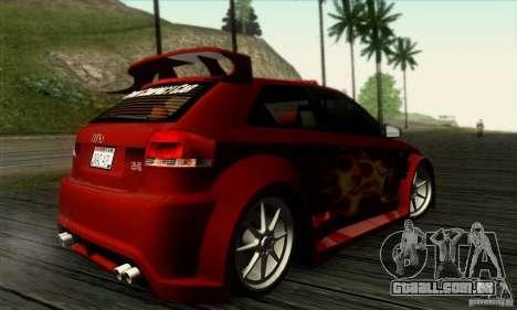 Audi A3 Tunable para GTA San Andreas vista interior