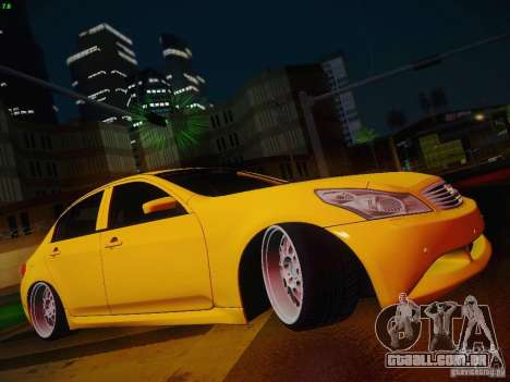Infiniti G37 Sedan para GTA San Andreas vista superior