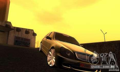 Mercedes-Benz S600 W200 para GTA San Andreas vista traseira