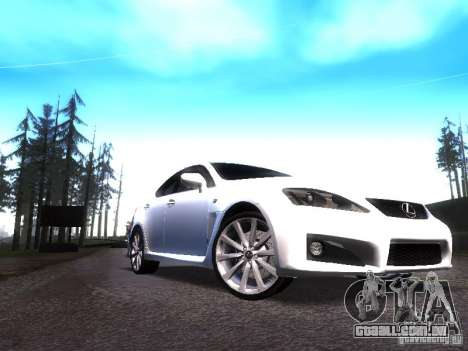 Lexus IS F para GTA San Andreas esquerda vista