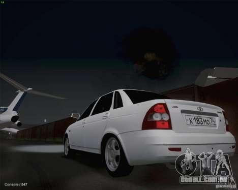 Lada 2170 para GTA San Andreas vista traseira