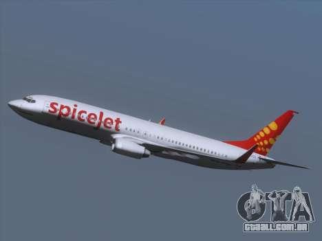 Boeing 737-8F2 Spicejet para GTA San Andreas vista superior