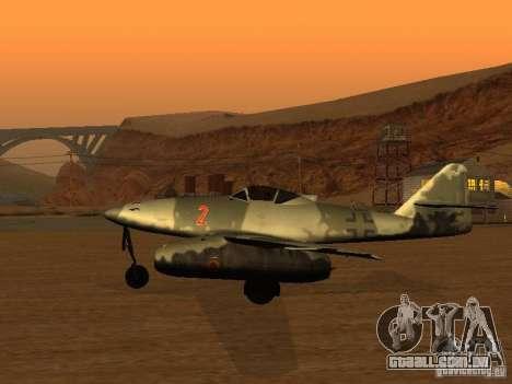 Messerschmitt Me262 para GTA San Andreas esquerda vista