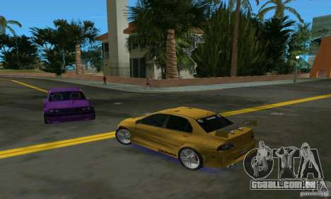 Mitsubishi Lancer Evo para GTA Vice City vista direita